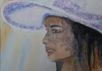 FB_Jeune fille au chapeau Aquarelle