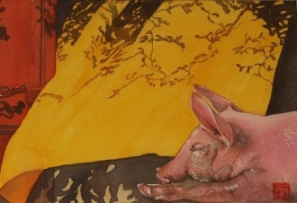 Cochon à la sieste_LC