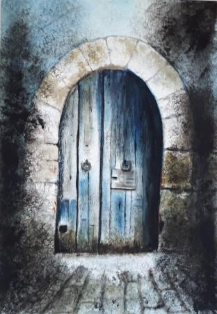 Porte_bleue_nuit_42x29,5cm_2019